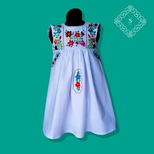 Mexican embroidered girl dress